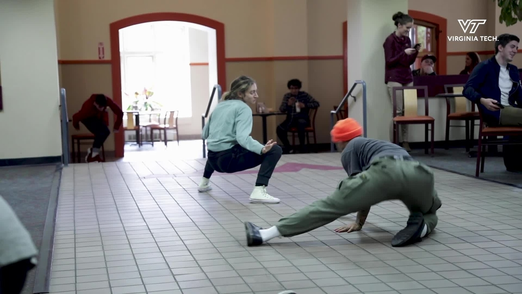 Dance company surprises diners at Owens Food Court