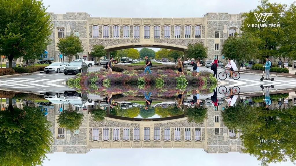 Mirrored scenes from Blacksburg