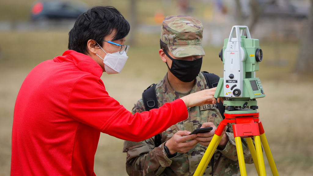 Outdoors provides safe environment for engineering lab