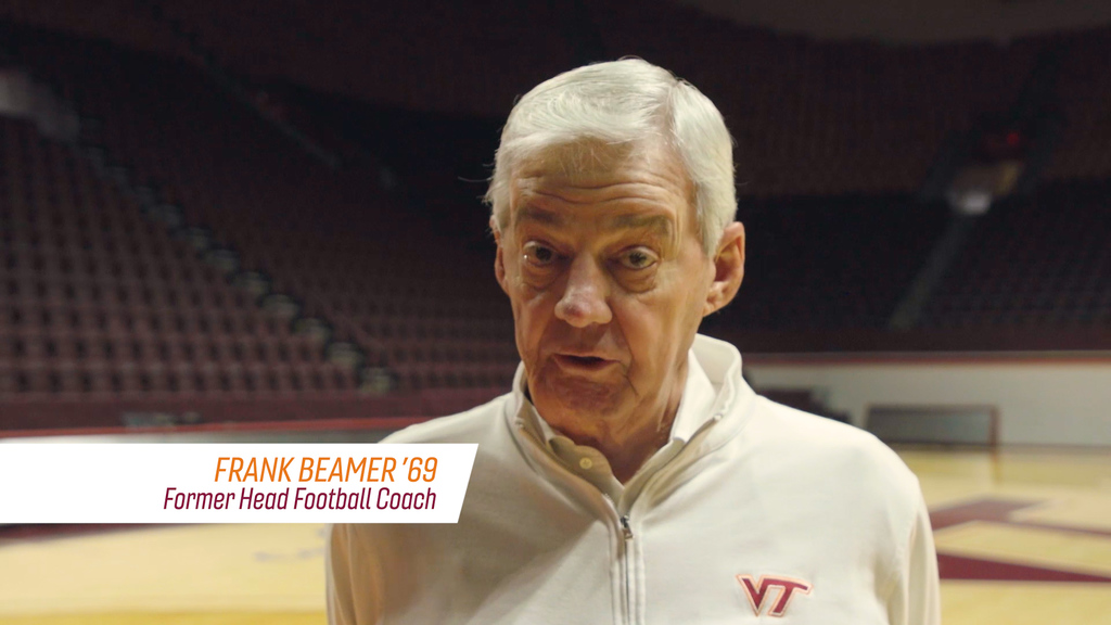 Frank Beamer with a message for Virginia Tech Hokies