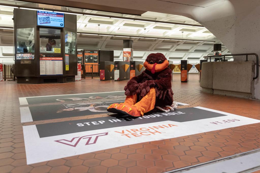 HokieBird heads to D.C. on business, runs into fellow Hokies