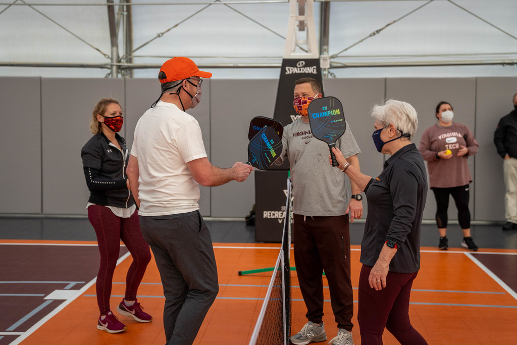 Presidents Pickleball match showcases the new Rec Sports Field House