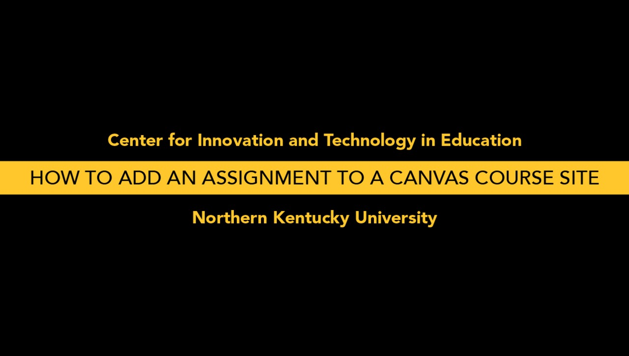 How to Add an Assignment to a Canvas Course Site
