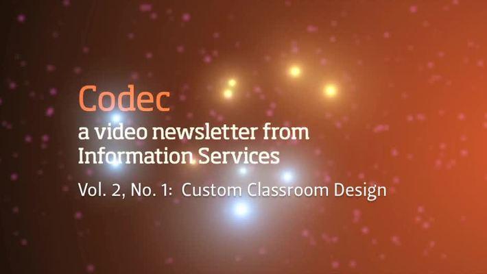 Custom Classroom Design from IS (Codec, vol. 2, no. 1)