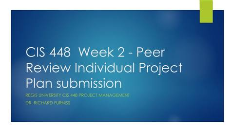 Thumbnail for entry CIS 448 week 2 project draft peer submission Video