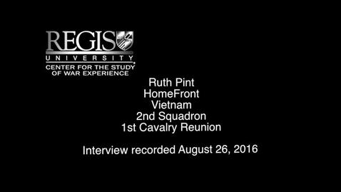 Thumbnail for entry Ruth Pint Interview