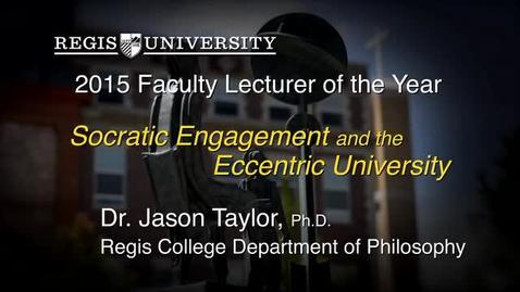 Thumbnail for entry 2015 Faculty Lecturer Dr. Jason Taylor