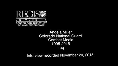 Thumbnail for entry Angela Miller Interview
