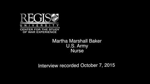Thumbnail for entry Martha Marshall Baker Interview