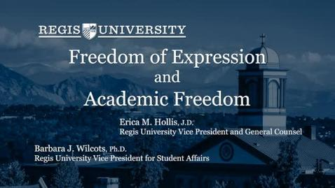 Thumbnail for entry Academic Freedom & Expressions Policy