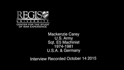 Thumbnail for entry Mackenzie Carey Interview