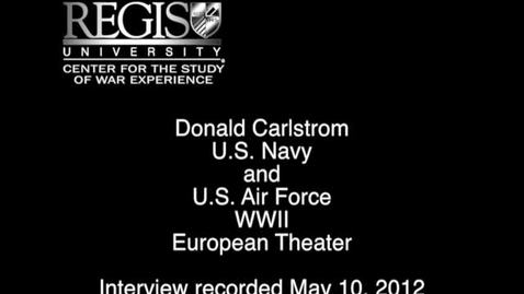 Thumbnail for entry Donald Carlstrom Interview