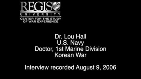 Thumbnail for entry Dr. Lou Hall Interview