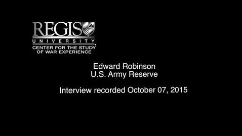 Thumbnail for entry Eddie Robinson Interview