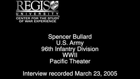 Thumbnail for entry Spencer Bullard Interview