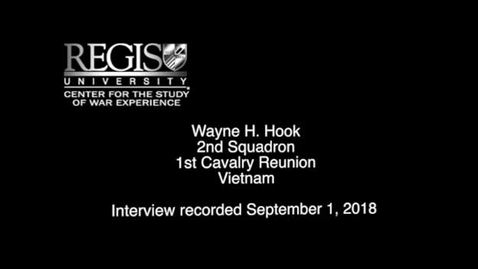 Thumbnail for entry Wayne H Hook Interview 2018