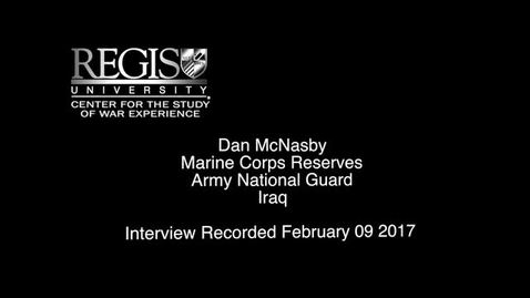 Thumbnail for entry Dan McNasby Interview