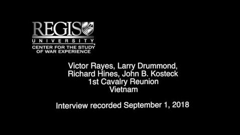 Thumbnail for entry 2018- 1st Cavalry Reunion - Rayes_Drummond_Kosteck_Hines