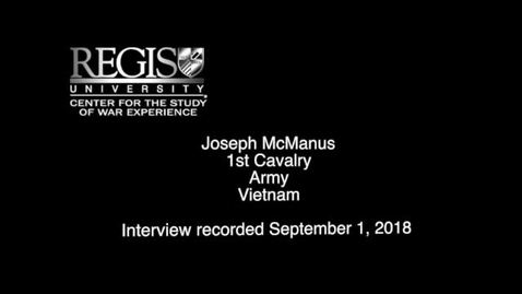 Thumbnail for entry Joseph McManus Interview