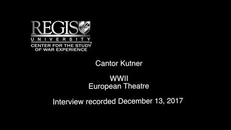 Thumbnail for entry Cantor Kutner Interview