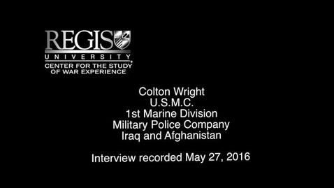 Thumbnail for entry Colton Wright Interview