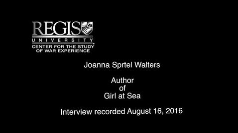 Thumbnail for entry Joanna Sprtel Walters Interview