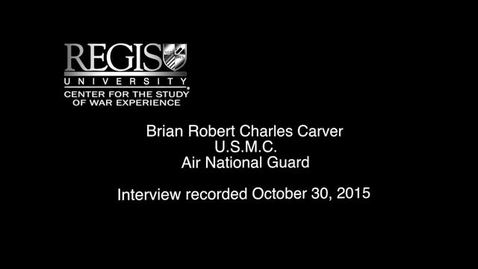 Thumbnail for entry Brian Carver Interview 1