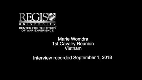 Thumbnail for entry Marie Womdra Interview