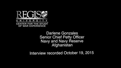 Thumbnail for entry Darlene Gonzales Interview