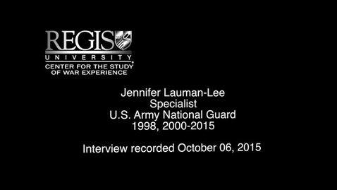 Thumbnail for entry Jennifer Lauman-Lee Interview