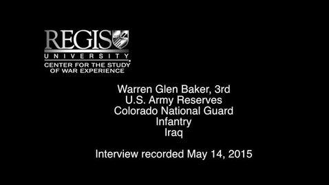 Thumbnail for entry Warren Glen Baker