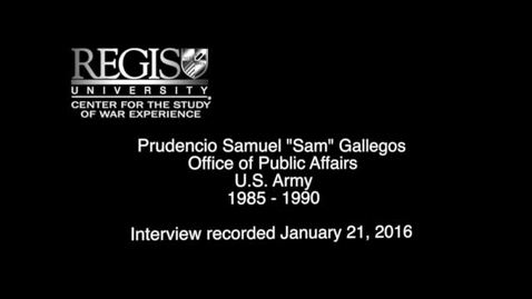 Thumbnail for entry Prudencio Samuel Gallegos Interview