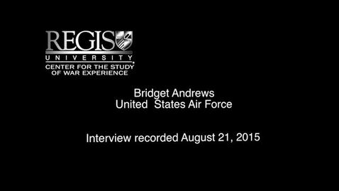 Thumbnail for entry Bridget Andrews Interview