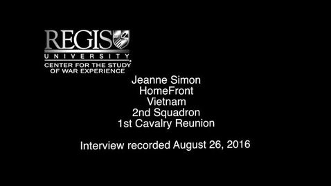 Thumbnail for entry Jeanne Simon Interview