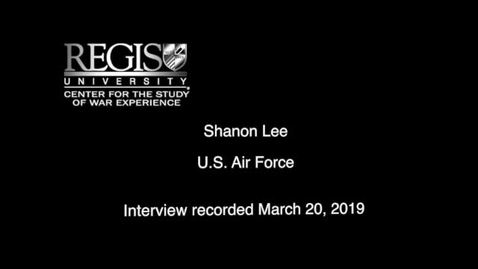 Thumbnail for entry Shanon Lee Interview