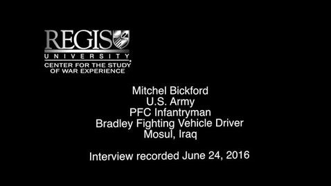 Thumbnail for entry Mitchel Bickford Interview