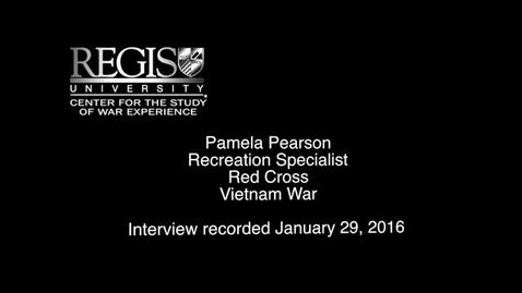 Thumbnail for entry Pamela Pearson Interview