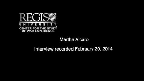 Thumbnail for entry Martha Alcaro Interview