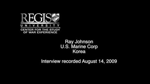 Thumbnail for entry Ray Johnson Interview
