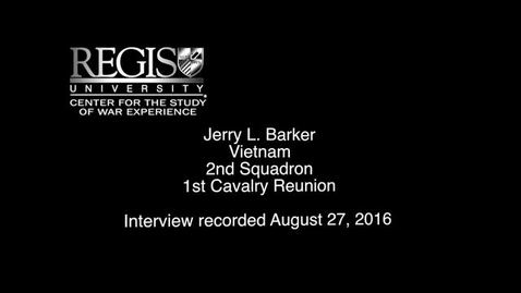 Thumbnail for entry Jerry L. Barker Interview