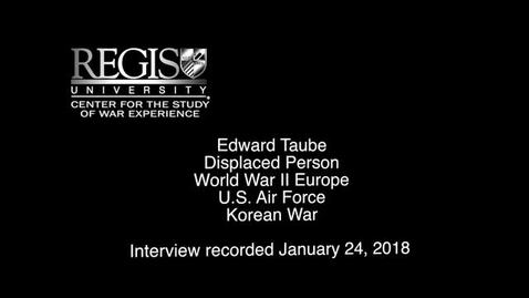 Thumbnail for entry Edward Taube Interview