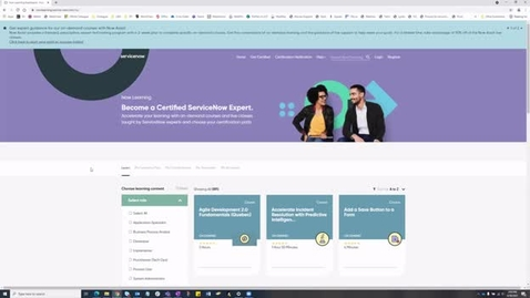 Thumbnail for entry ServiceNow Tips and Tricks, 6/30/21: Learning Training and Support Options