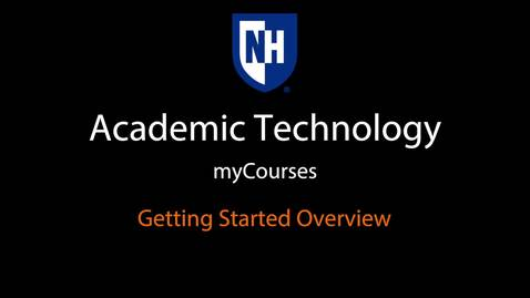 myCourses - Getting Started Overview