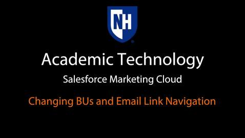 SFMC - Changing BUs and Email Link Navigation