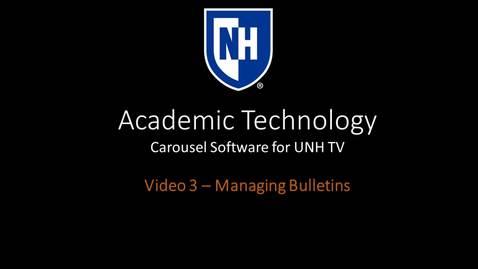 Thumbnail for entry Carousel Training Video 3 - Managing Bulletins