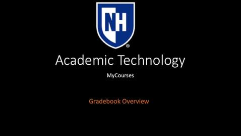 Thumbnail for entry myCourses-Gradebook Overview