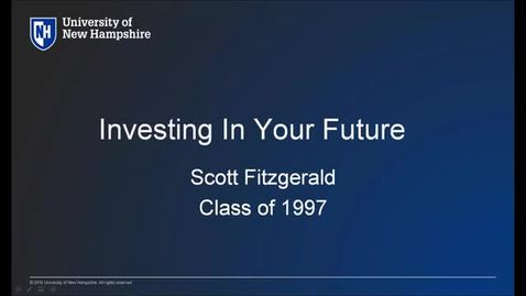 UNH Live Professional Development Webinar: Investing in Your Future