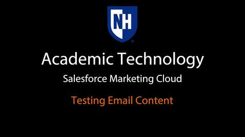 SFMC - Testing email content