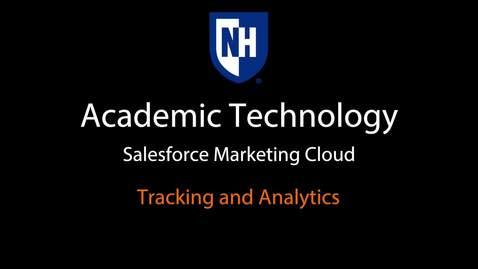 SFMC - Tracking and Analytics