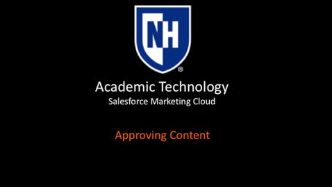 SFMC - Approving content - March 2018